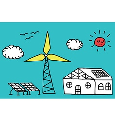 Alternative energy concept vector