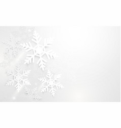 abstract snowflakes in white background vector image vector image