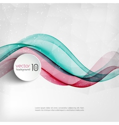 Abstract transparent wave background vector image vector image