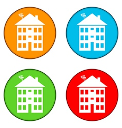 Apartment house buttons set vector image