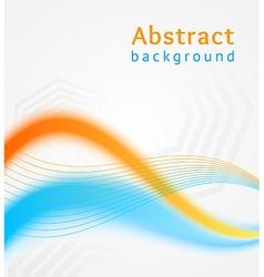Blue and orange business wave background flyer vector