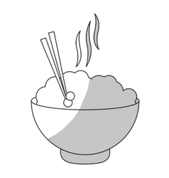 Bowl of noodles icon vector