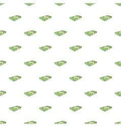 Bundle of money pattern cartoon style vector