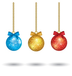 christmas colorful balls vector image vector image