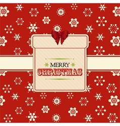 Christmas present label background red vector image