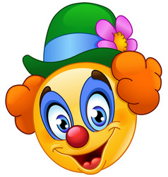 Clown emoticon vector
