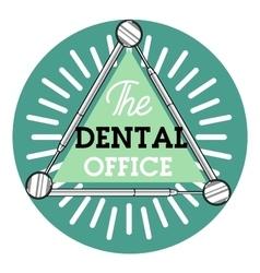 Color vintage dental emblem vector image vector image