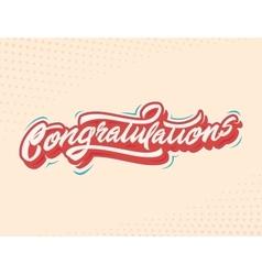 Congratulations Handlettering vector image