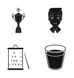 Cup man and other web icon in black style table vector