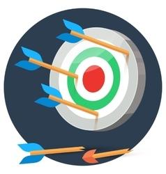 Dart arrows miss target vector