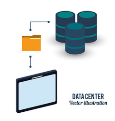 Data center storage folder file vector