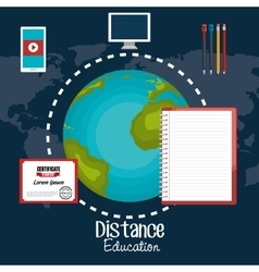 distance education design vector image