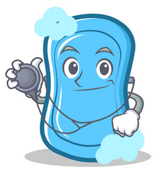 doctor blue soap character cartoon vector image