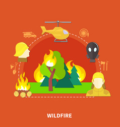 flat firefighting vector image vector image