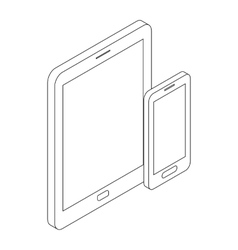 Gadgets icon isometric 3d style vector image