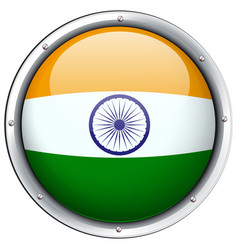 India flag on round badge vector