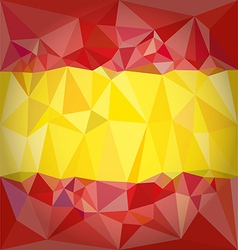 Low Poly Spain Flag vector image vector image
