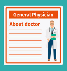 Medical notes about general physician vector
