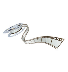 Movie film spooling out of film reel vector