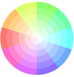 Palette pastel colors pie chart vector