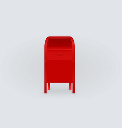 Red postbox isolated gradient background vector