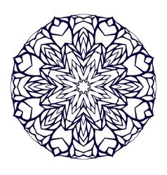 Round kaleidoscopic lace mandala background vector