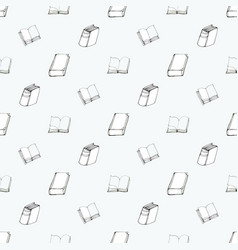 seamless pattern with books vector image vector image