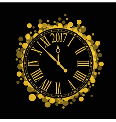 shiny New Year 2017 countdown Clock vector image