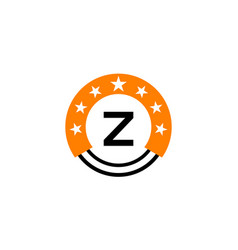 star union initial z vector image