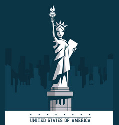 Statue of liberty united states usa new york city vector