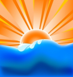 Summer background with vector