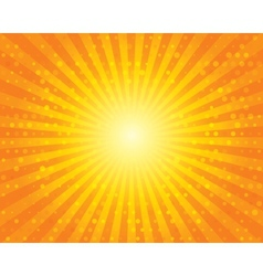 Sun Sunburst Pattern with circles Orange sky vector image