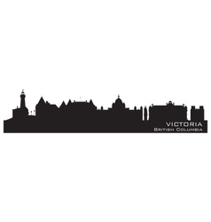 Victoria Canada skyline Detailed silhouette vector image vector image