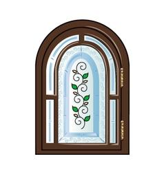 Vintage window vector