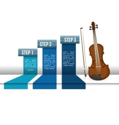 Cello music sound infographic vector