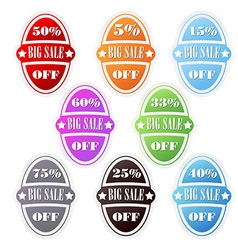 Sales announcer - big sale sign vector image