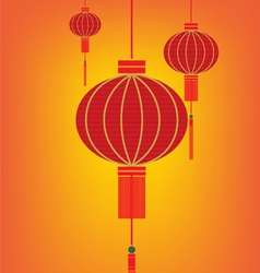 Red lantern chinese vector