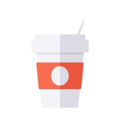 Coffee disposable cup vector