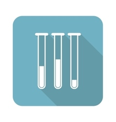 Test-tubes square icon vector