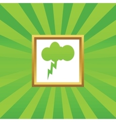 Thunderstorm picture icon vector