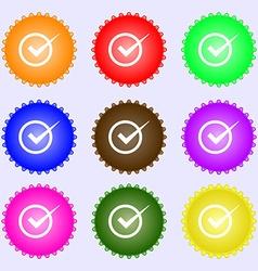 Check mark sign icon checkbox button a set of nine vector