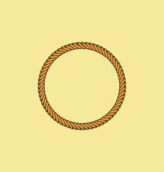 Brown rope theme vector