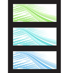 Abstract Background Banner in Three Color vector image