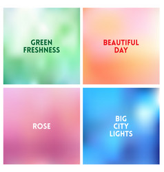 Abstract sunset blurred background set vector