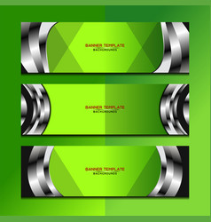Banner green background design vector