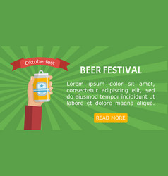 beer festival poster or flyer template vector image vector image