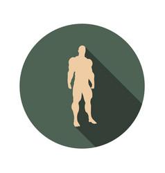 body building icon vector image vector image