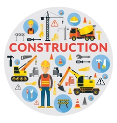 Construction Label vector image vector image