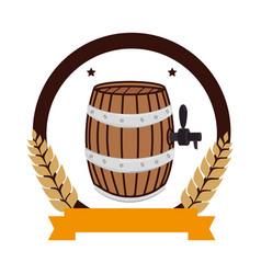 Fresh beer barrel drink icon vector