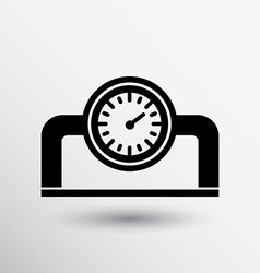 Gauge industrial valve icon button logo symbol vector